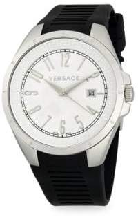 Versace Stainless Steel Rubber-Strap Watch