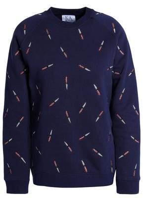 Zoe Karssen Embroidered Cotton-Blend Sweatshirt