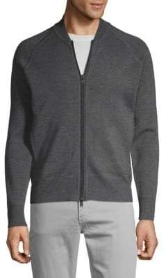 J. Lindeberg Wool Front-Zip Jacket