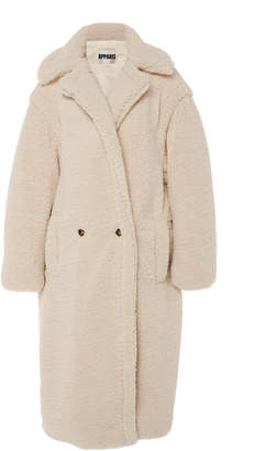 Apparis Daryna Collared Faux Shearling Coat Size: M