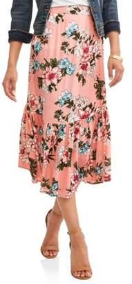 Moda Women's Midi Printed Prarie Skirt