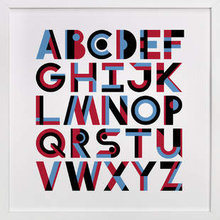 Geometric Alphabet Children's Art Print