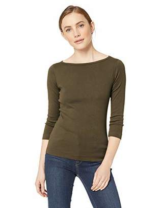 Three Dots Women's AA4W033 Heritage Knit 3/4 SLV British tee