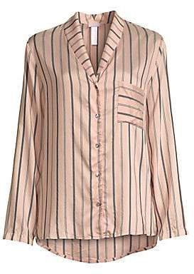 Hanro Women's Malie Striped Pajama Shirt