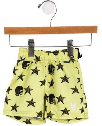 Munster Boys' Star and Skull Swim Trunks w/ Tags