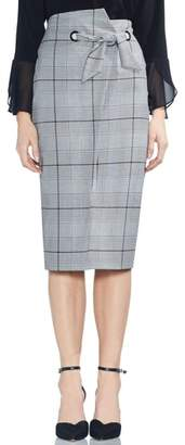 Vince Camuto High Waist Glen Plaid Pencil Skirt