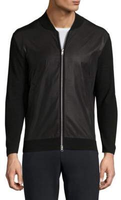 Theory Salleg Fine Eclipse Bomber Jacket