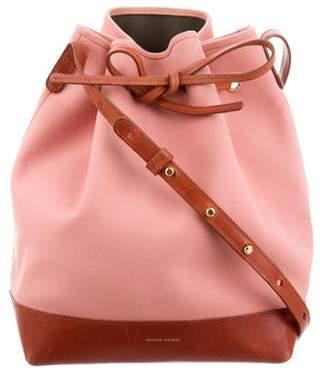 135db7bbcd8 Mansur Gavriel Canvas & Leather Bucket Bag
