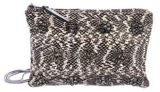 Lanvin Snakeskin Crystal Embellished Clutch