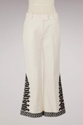 Tory Burch Cotton embroidered pants
