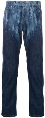 Diesel Black Gold slim jeans in lasered denim