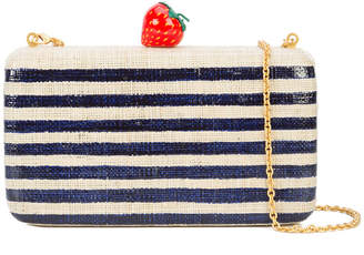 Kayu striped strawberry clutch bag
