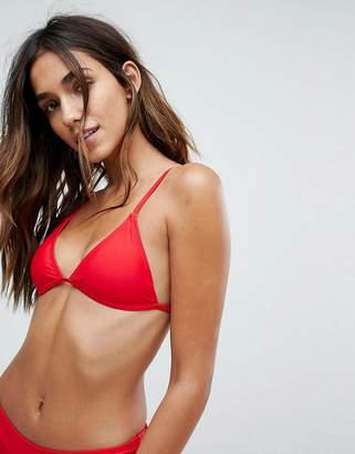 boohoo Triangle Bikini Top
