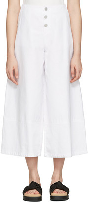 See by Chloé White Cropped Wide-Leg Trousers $295 thestylecure.com