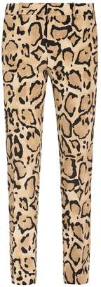 Gucci Leopard Print Trousers