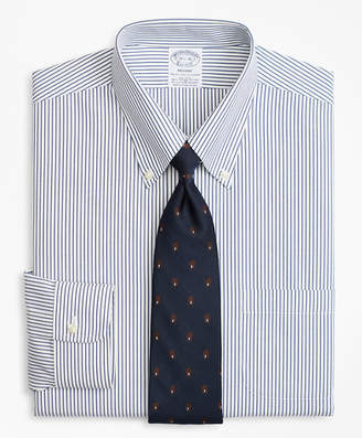 Brooks Brothers Stretch Regent Fitted Dress Shirt, Non-Iron Pencil Stripe