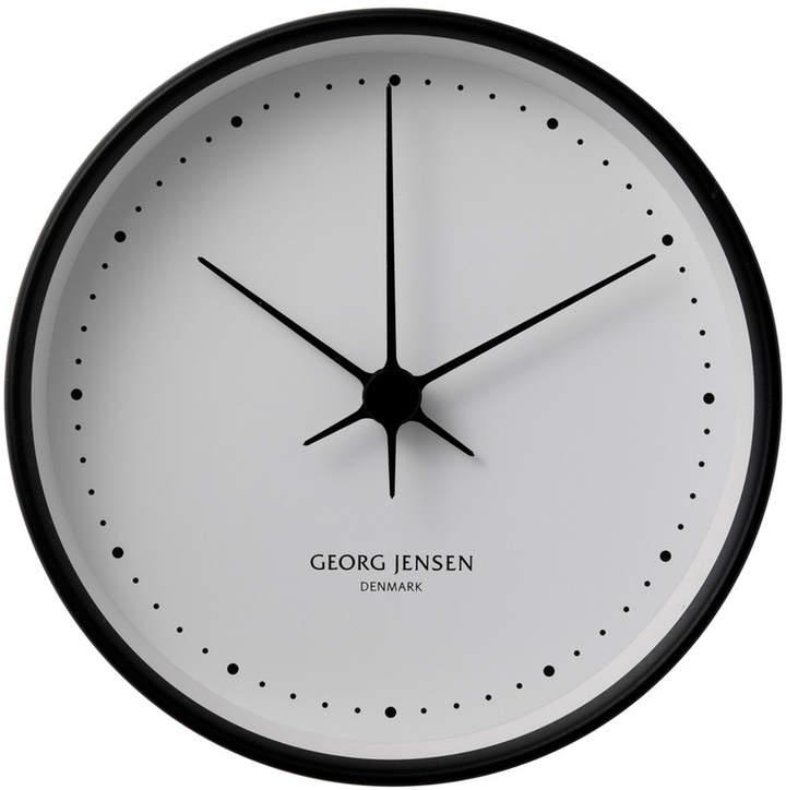 Henning Koppel Wanduhr Ø 10 cm, schwarz / Weiß