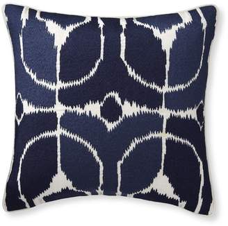 Williams-Sonoma Embroidered Ikat Pillow Cover, Navy