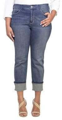 NYDJ Plus Lorena Boyfriend Capri Jeans