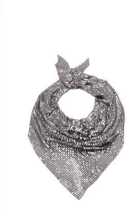 Paco Rabanne Chainmail Mesh Scarf - Womens - Silver