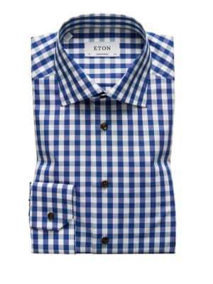 Eton Contemporary Fit Gingham Plaid Shirt