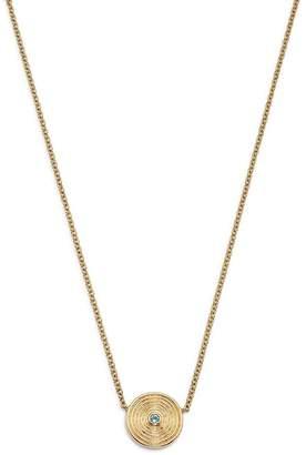 """Kiki McDonough 18K Yellow Gold Fantasy Blue Topaz Necklace, 16"""""""