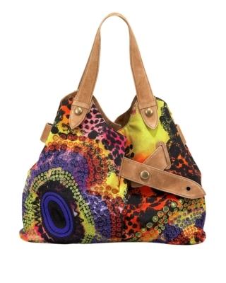 Diane von Furstenberg African Sugar-Print Shoulder Bag