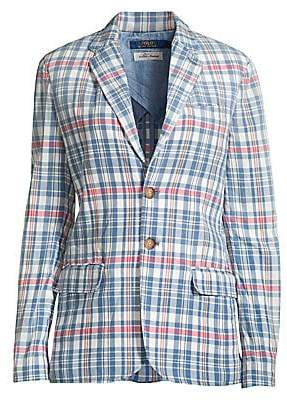 Polo Ralph Lauren Women's Madras Plaid Blazer - Size 0