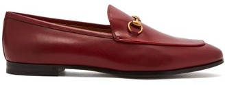 Gucci Jordaan Leather Loafers - Womens - Red
