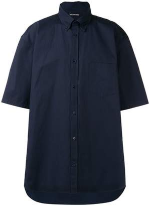 Balenciaga normal fit logo button down shirt