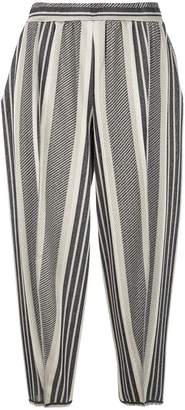 Pleats Please Issey Miyake cropped striped trousers