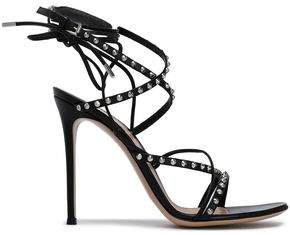 Gianvito Rossi Lace-Up Studded Leather Sandals