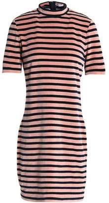 Alexander Wang Striped Cotton-Blend Velvet Mini Dress