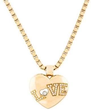 Chopard 18K Happy Diamonds Love Pendant Necklace