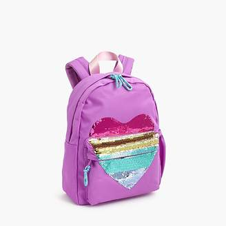 J.Crew Girls' mini backpack with reversible-sequin heart
