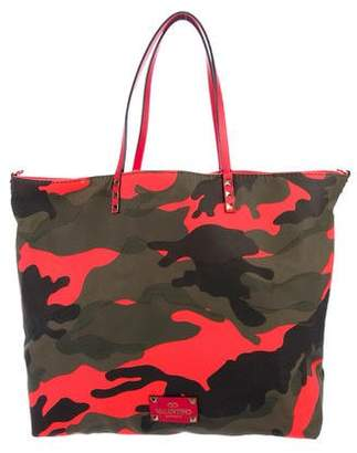 Valentino Reversible Camouflage Tote
