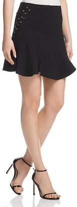 Aqua Lace-Up Godet Skirt - 100% Exclusive