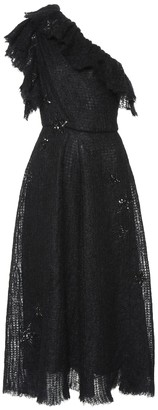Valentino Embellished mohair-blend midi dress