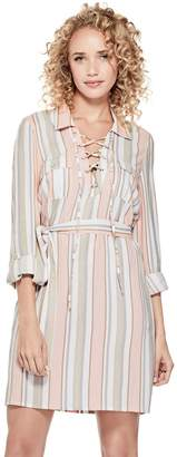 Factory Guess Women's Lenora Striped Shirtdress