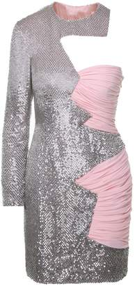 Moschino Sequin-embellished Silk-chiffon Mini Dress