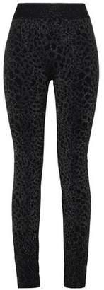 Wolford Eleonor Metallic Animal-print Leggings