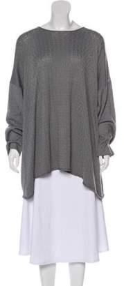 eskandar Silk Knit Sweater Grey Silk Knit Sweater