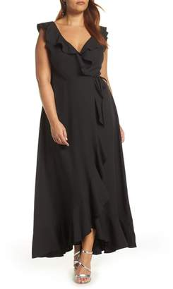 Leith Ruffle Wrap Maxi Dress