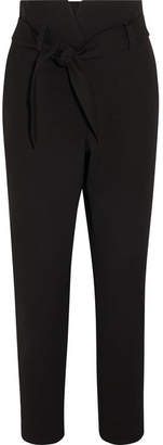 Nanushka Jude Belted Twill Slim-leg Pants