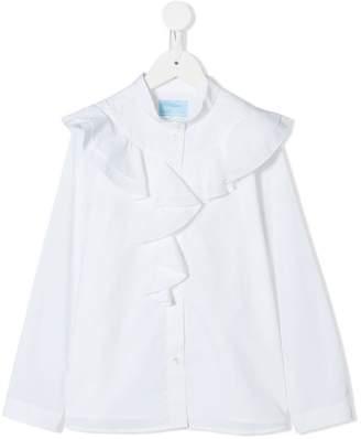 Lanvin Enfant ruffle-trimmed shirt
