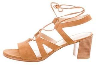 Stuart Weitzman Suede Lace-Up Sandals w/ Tags
