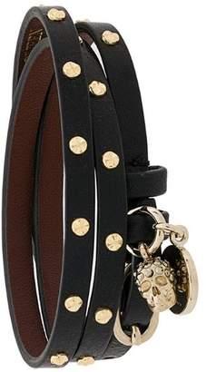 Alexander McQueen Double-wrap studded bracelet