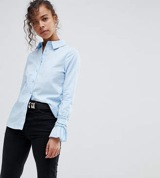 Lost Ink Petite Shirt With Frill Detail Cuffs