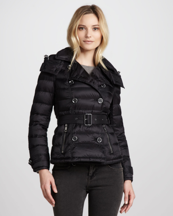 Burberry Lightweight Double-Breasted Puffer Jacket