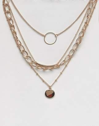 Bershka multi chain necklace